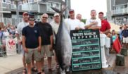 "The Canyon Runner caught this 2012 White Marlin Open winning Bigeye on a medium Melton Cherry jet in ""Canyon Runner"" (21/28)"