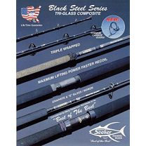 Seeker Black Steel Live Bait Rods