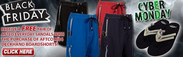 AFTCO Shorts/Sandals Offer