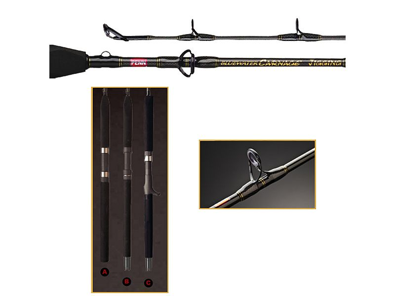 Penn Bluewater Carnage Jigging CARJG200C56 Conventional Rod