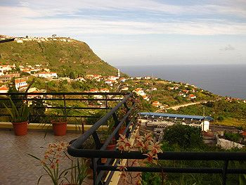 View from Madeira, Portugal living quarters