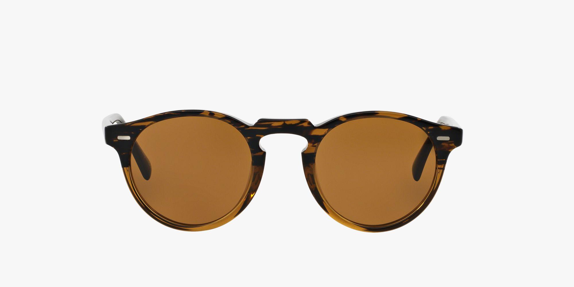 Oliver Peoples Gregory Peck Sun Sonnenbrille Transparent Dunkelbraun und Tortoise 1485W4 47mm 9PxGheT