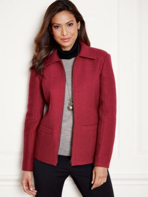 BRYNNE BOILED WOOL JACKET