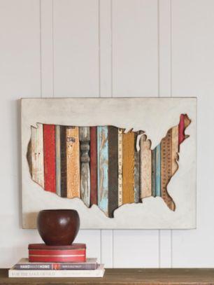 USA MAP WALL ART - Us map wall art