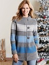 Alpine Stripe Boiled Wool Cardigan