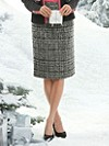 Boucle Wool Pencil Skirt