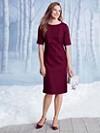 Worsted Wool Crepe Debonair Dress