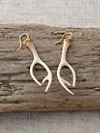 Fossilized Ivory Stag Earrings