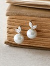 Seashell Pearl Earrings