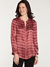 Silk Kelsey Circle Print Blouse