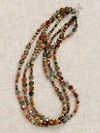 Red Creek Jasper Three-strand Necklace