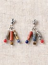 Mixed Stones Tube Earrings