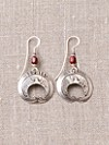 Silver Eagle Crescent Drop Earrings