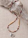 Silver Eagle Crescent Necklace