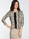 Three-quarter Sleeve Feather Cardigan