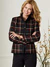 Worsted Flannel Plaid Helena Jacket