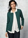 Washable Merino Jewelneck Cardigan