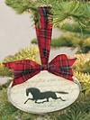Beveled Glass Horse Ornament