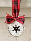 Beveled Glass Snowflake Ornament