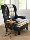 Leather/jacquard Logan Chair