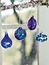 Multi Blue Ornaments, Set Of 4