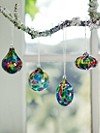 Spotty Rainbow Ornaments, Set Of 4