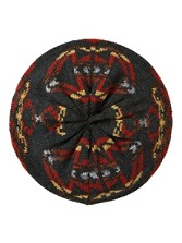 Jacquard Knit Beret