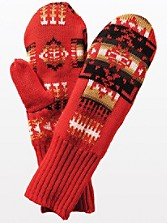 Fleece Lined Jacquard Mittens