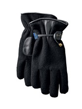Glove With Leather Palm