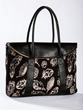 Feather Storm/leather Tote