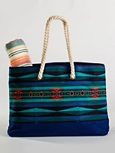 Lahaina Wave Canvas Tote
