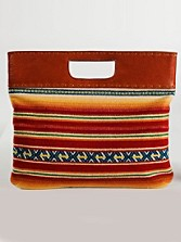 Casa Grande Stripe Oversized Clutch
