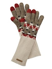 Long Jacquard Gloves