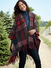 Plaid Blanket Shawl