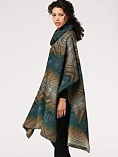 Tumbling Gems Funnel Neck Poncho