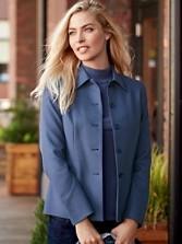 Worsted Wool Flannel Eleanor Jacket