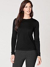 Merino Jewel-neck Pullover