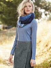 Ultralight Merino Jewel-neck Pullover