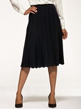Black Magic Merino Knit Skirt