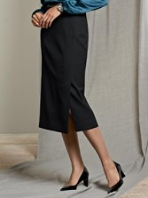 Seasonless Wool Long Slim Skirt