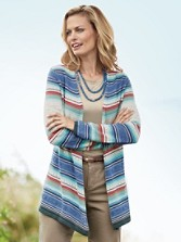 Silver Creek Stripe Cardigan