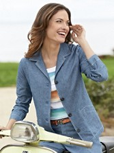 Chambray Chic Jacket