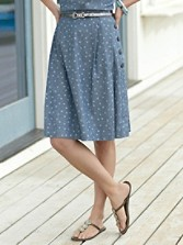 Back Porch Chambray Skirt