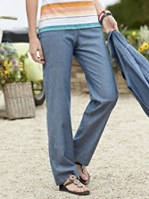 Chambray Chic Pants