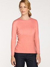 Long-sleeve Jewel-neck Cotton Tee