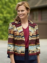 Cotton Sateen Stripe Zaria Jacket