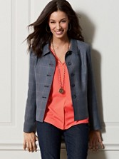 Plaid Worsted Wool Brentwood Jacket