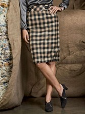 Graphic Check Giselle Skirt