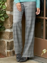 Stitched Worsted Plaid Park Avenue Pants