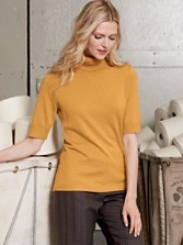 Mariana Elbow-sleeve Turtleneck